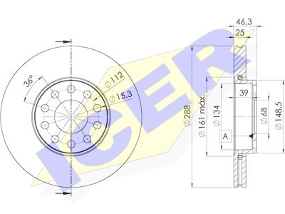 Prednji zavorni diski IEBD4063 - Audi, Seat, Škoda, VW