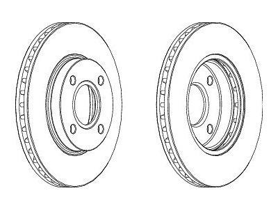 Prednji zavorni diski S71-0007S- Ford Mondeo 93-00