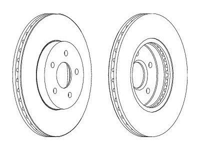Prednji zavorni diski S71-0009S - Ford Mondeo 00-07