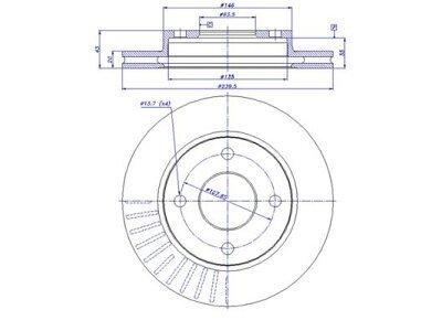 Prednji zavorni diski S71-0010 - Ford