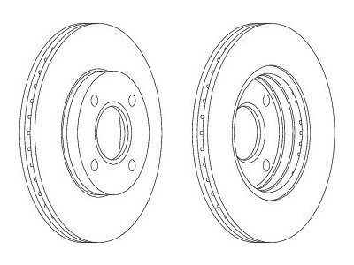 Prednji zavorni diski S71-0015S - Ford