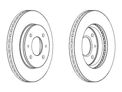 Prednji zavorni diski S71-0021S - Seat