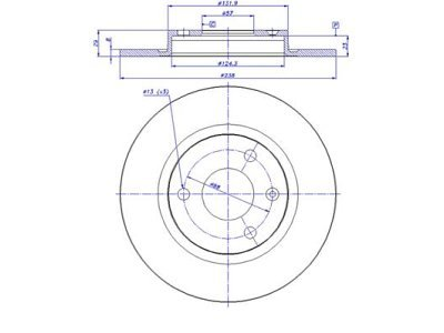 Prednji zavorni diski S71-0022 - Citroen