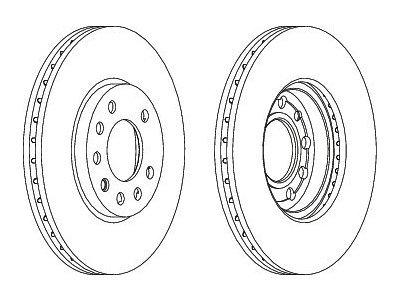 Prednji zavorni diski S71-0032S - Opel Zafia 99-12