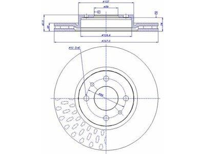 Prednji zavorni diski S71-0033 - Lancia