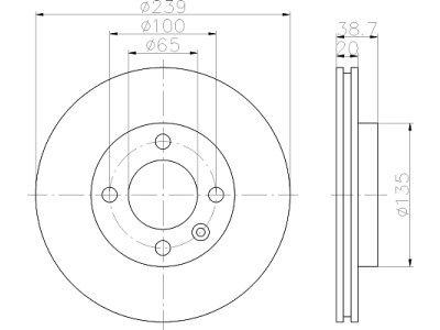 Prednji zavorni diski S71-0034 - Seat