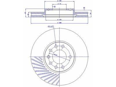 Prednji zavorni diski S71-0035 - Saab
