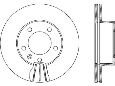 Prednji zavorni diski S71-0036 - Nissan