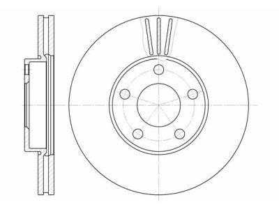 Prednji zavorni diski S71-0069 - VW