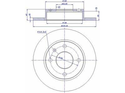 Prednji zavorni diski S71-0090 - Ford