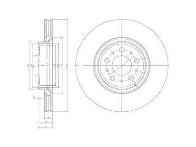 Prednji zavorni diski S71-0178 - Volvo