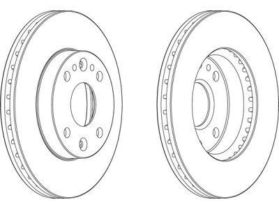 Prednji zavorni diski S71-0331 - Kia Rio 00-05