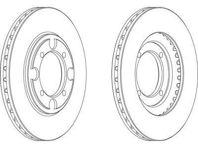 Prednji zavorni diski S71-0332 - Hyundai Lantra 90-00