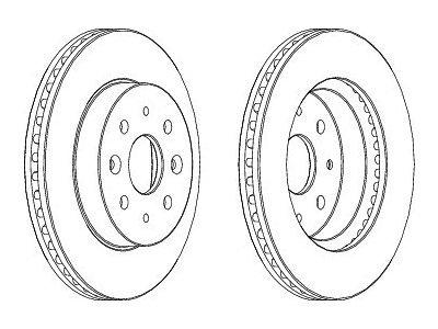 Prednji zavorni diski S71-0342 - Kia Rio 00-05