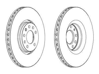 Prednji zavorni diski S71-0344 - Opel Vectra C 02-09