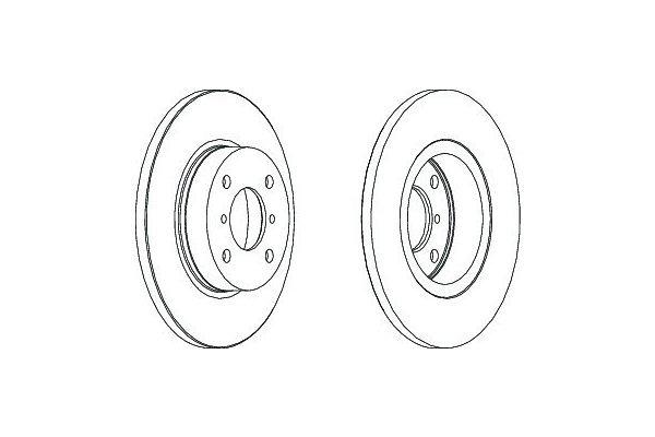Prednji zavorni diski S71-0396 - Opel Agila 00-08