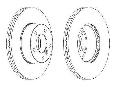 Prednji zavorni diski S71-0408 - BMW Serije 1 04-13
