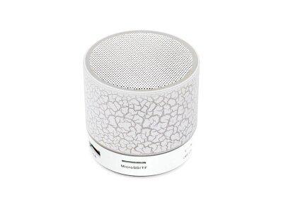 Prenosni Bluetooth zvočnik, svetlobni učinek, bel