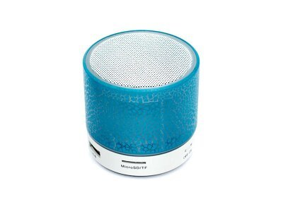 Prenosni Bluetooth zvočnik, svetlobni učinek, moder