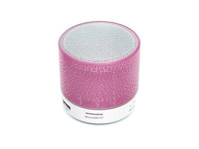 Prenosni Bluetooth zvočnik, svetlobni učinek, roza