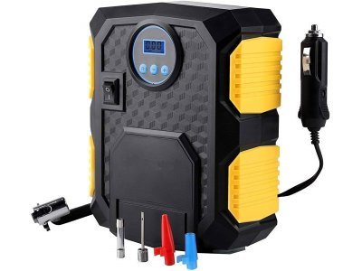 Prenosni digitalni kompresor za pnevmatike, tlačni polnilnik - 12V - Silux parts