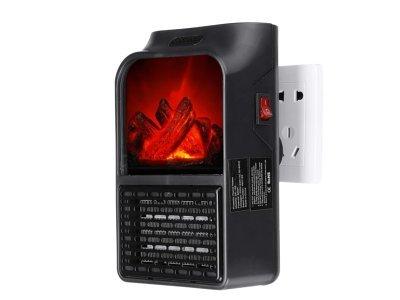 Prenosni grelec Kamin, 900W, LED zaslon, daljinec, časovnik