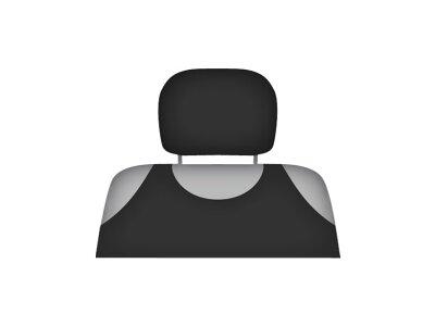 Presvlaka naslona za glavu Kegel Shirt Cotton, crna