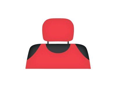 Presvlaka naslona za glavu Kegel Shirt Cotton, crvena