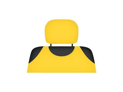 Presvlaka naslona za glavu Kegel Shirt Cotton, žuta