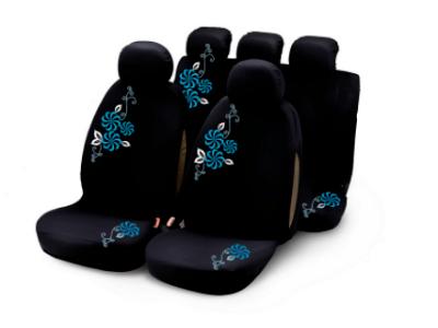 Presvlake sjedala Bottari, komplet, modro cvijeće