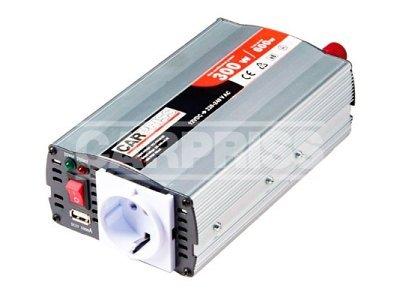 Pretvarač Carpriss, 12->230V, 300W, USB, 500mA