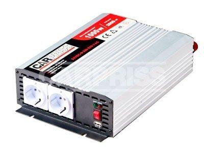 Pretvarač Carpriss, 24->230V, 1000W, USB, 1000mA