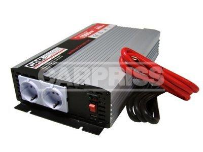 Pretvarač Carpriss, 24->230V, 1500W, USB, 1000mA