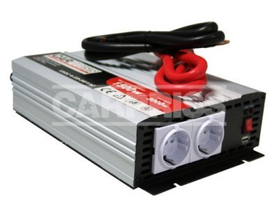 Pretvarač napona Carpriss, 12->230V, 1500W, USB, 1000mA