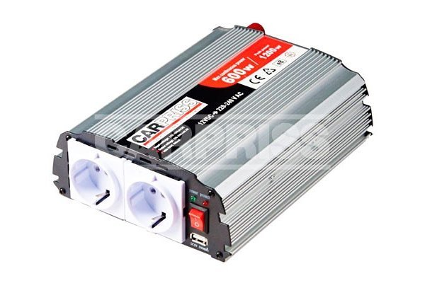 Pretvarač napona Carpriss, 12->230V, 600W, USB, 500mA