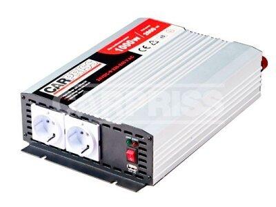 Pretvarač napona Carpriss, 24->230V, 1000W, USB, 1000mA