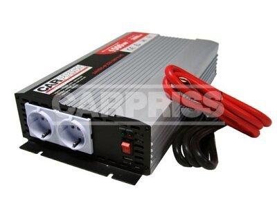 Pretvarač napona Carpriss, 24->230V, 1500W, USB, 1000mA