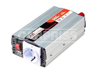 Pretvarač napona Carpriss, 24->230V, 300W, USB, 500mA