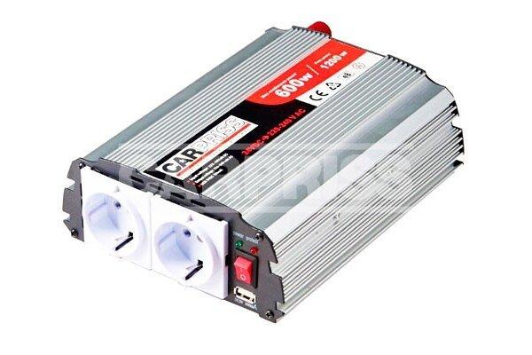 Pretvarač napona Carpriss, 24->230V, 600W, USB, 500mA