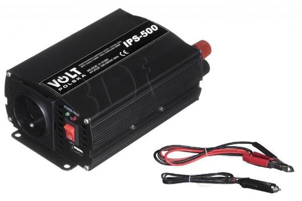 Pretvarač Volt Polska IPS 500 24/230V USB 2A