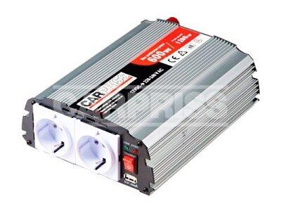 Pretvornik Carpriss, 12->230V, 1000W, USB, 1000mA