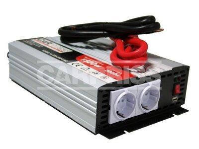 Pretvornik Carpriss, 12->230V, 1500W, USB, 1000mA