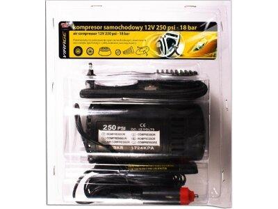Prijenosni kompresor za gume, tlačni punjač Virage - 12V, 25 PSI, 18 bara