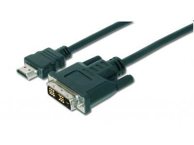 Priključni video kabel Assmann, HDMI/DVI-D, 5m