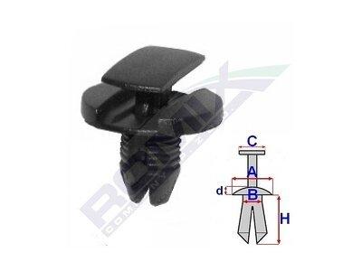 Pritrdilne sponke (za predel motorja) Citroen C3 02-