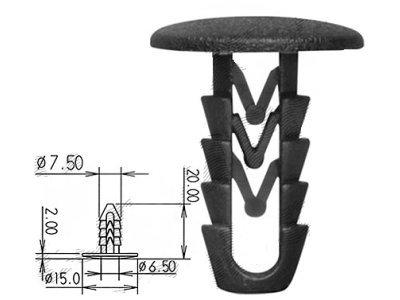 Pritrdilni set sponk RX2519A, sedežna garnitura