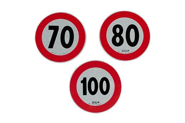 Reflektirajuća naljepnica za ograničenje brzine, 100km