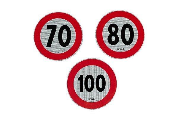 Reflektivna nalepka za omejitev hitrosti, 100km