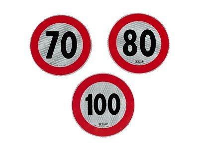 Reflektivna nalepka za omejitev hitrosti, 80km