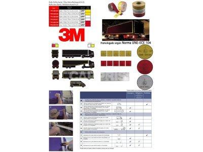 Reflektivne lepkaste trake Carpriss, 12.5M/55MM, žuta, reflektujuća